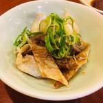 丸八寿司 - サーモンの皮焼いてくれました❗️