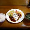 もりもり - 料理写真:きのこソースのハンバーグ 野菜コロッケ付き ¥700(税込)