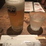 HOTJaJa - 生ビール(アサヒスーパードライ)(中)(税別550円)