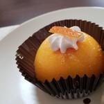トラットリア ボスコ - セットのオレンジクリームケーキです。