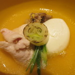 toukyouwashokurikuu - キジ肉とキジの玉子のお椀