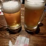 チーズ&肉バルOLIVE - 生ビールとシャンディガフ