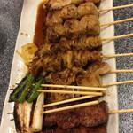 みやこや - 料理写真:串盛り合わせ10本 ¥1280(税別)