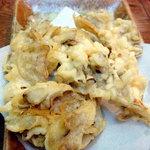 松山そば店 - 舞茸の天ぷらです、結構な量がありますよ