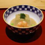 かまくら和久 - 前菜:賀茂茄子の利休餡掛け
