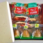 蝶谷 - 料理写真:りんご巴衣物語 & 水郷焼き鮎 & えくぼ美人 ラ・フランス
