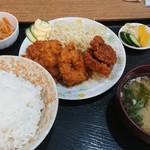 鳥勝 - 若鶏タレカツ定食 700円