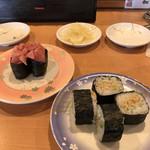 回転寿司 花いちもんめ - 大人の納豆巻 中落ち軍艦