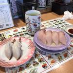 回転寿司 花いちもんめ - 生タコ足 活〆ハマチ
