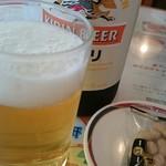 敦賀ヨーロッパ軒 - ビールはキリン。