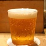 鳥しき - 生ビール
