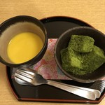 110121112 - 抹茶のわらび餅と冷製フォンデュ