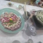 六甲保養荘 - 料理写真:六甲山麓鍋①にくにく・・・