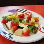 110135730 - いしい農園カレーの添えつけ野菜w このお野菜もかなりおいしいw
