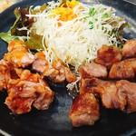 110141995 - 豚テキ&サイコロステーキ