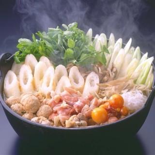 本場秋田名物!『きりたんぽ鍋』は、当店人気のおすすめ♪