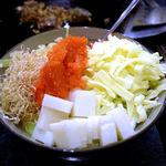 まるちゃん - めんたいチーズもんじゃ(850円)+もち(200円)