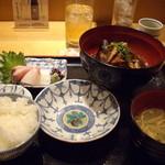 Sushikuijinushari - 鯛のあら煮膳980円