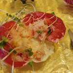 レストランMOMO - トマトとカニのコンフィ断面