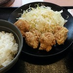 吉野家 - 料理写真:から揚げ定食(並盛)