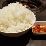 焼肉レストラン平城 - ライス大 ¥350