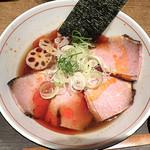 麺と心 7 - 料理写真:冷やしラー油肉そば(2019年冷やし第2弾)