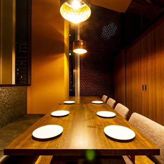 少人数から団体様まで幅広く個室のお席をご用意!