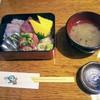 一里塚 - 料理写真:ランチ海鮮丼!小さなお重ですが綺麗じゃありませんか!