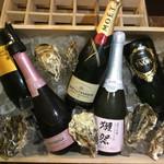 BURRATA - ドリンク写真:スパークリングワイン バイザグラス