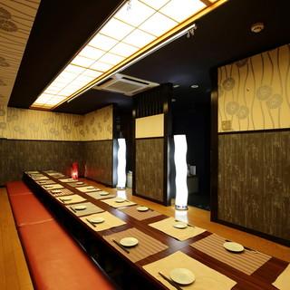 《隠れ家》◆大人数でも広々と完全個室でご宴会◆ソファー席も♪