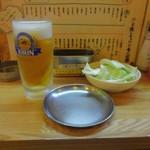 串かつ 源 - 生ビールとおとおし