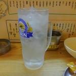 串かつ 源 - レモンサワー
