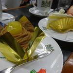 イノダコーヒ - モンブランとフルーツのケーキ