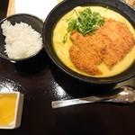 カレーうどん千吉 - 特製千吉かつカレーうどん(980円)