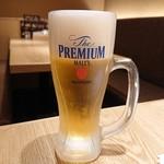 カレーうどん千吉 - 生ビール(400円)