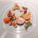 TRATTORIA SCACCOMATTO - ヴェネト産ウサギ そのレバー詰め 自家農園野菜のピクルス