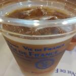 ヴィドフランス - モーニングセットのB390円のアイスコーヒー