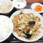 味楽 - 五目野菜の炒め定食