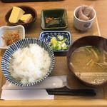 定食屋 ななつぼし - 三元豚の生姜焼き定食1200円