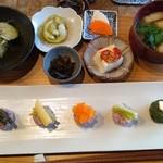 りげんどう - にぎり野菜寿司膳1,620円