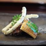 松川 - 宍道湖鰻蒲焼 ごぼうの天ぷら