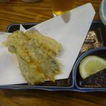 酒の大丸 - 太刀魚の天ぷら