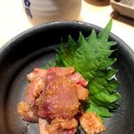 鮨・酒・肴 杉玉 - ハマチの胡麻醤油和え?