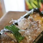 鮎茶屋 - 料理写真:鮎の洗い