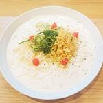 山陽そば - 料理写真:【季節限定商品】明太子クリームソース細うどん 420円(税込)