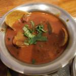 shiva curry wara - あさりとホテルイカのマラバーリ