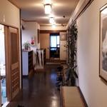 岩井屋 - 左の開いている扉が二階のトイレです。昭和の臭いです(笑)