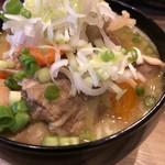 Tateishihorumonwakei - もつ煮込み レギュラー ¥580-(税抜)のアップ