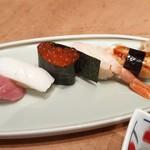本等鮨 海馬 - お昼のわがまま御膳の寿司5貫