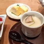 本等鮨 海馬 - お昼のわがまま御膳の茶碗蒸しと玉子のあて